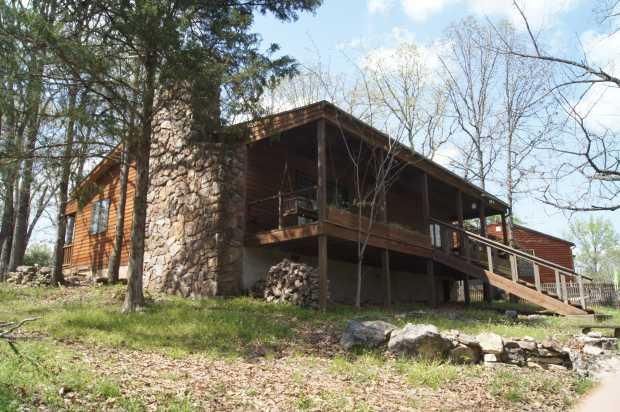 Caro Drive cabin, rear toward house