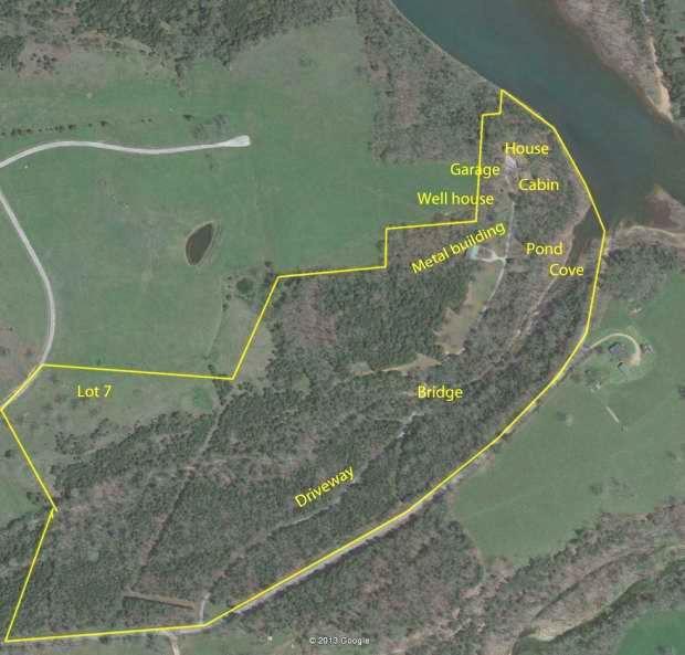 Property boundaries, Google Earth